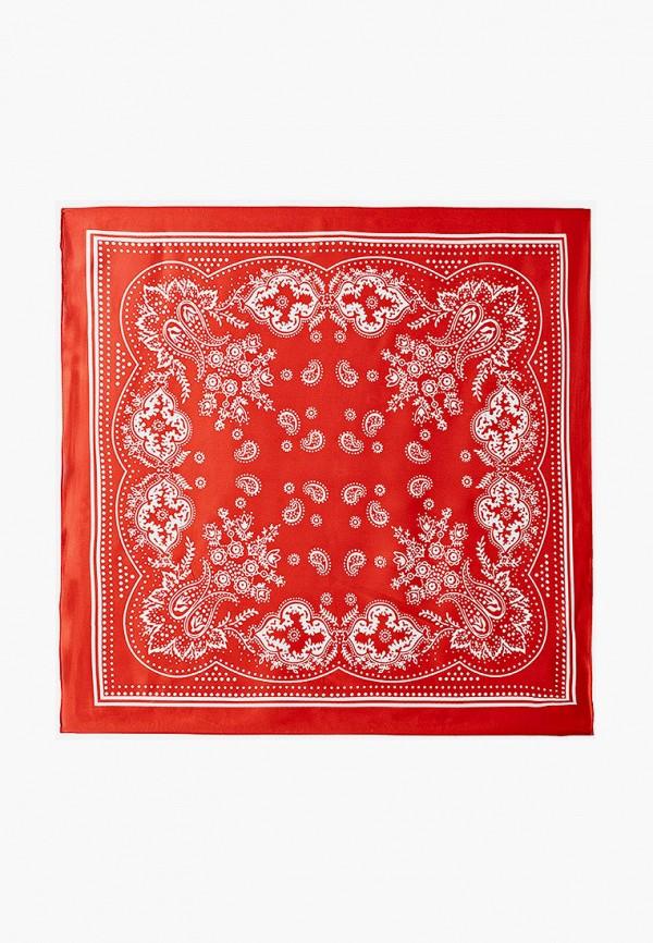 женский платок модные истории, красный