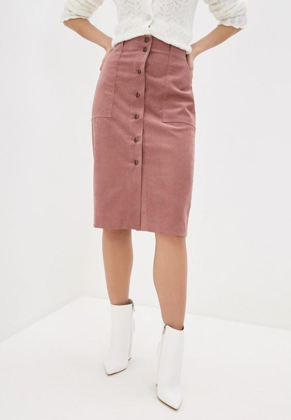 женская прямые юбка divur, розовая