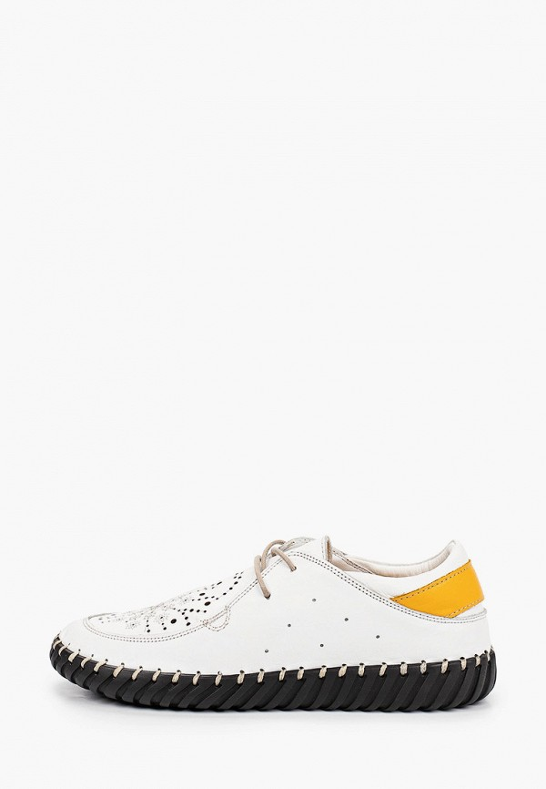 женские низкие ботинки ascalini, белые