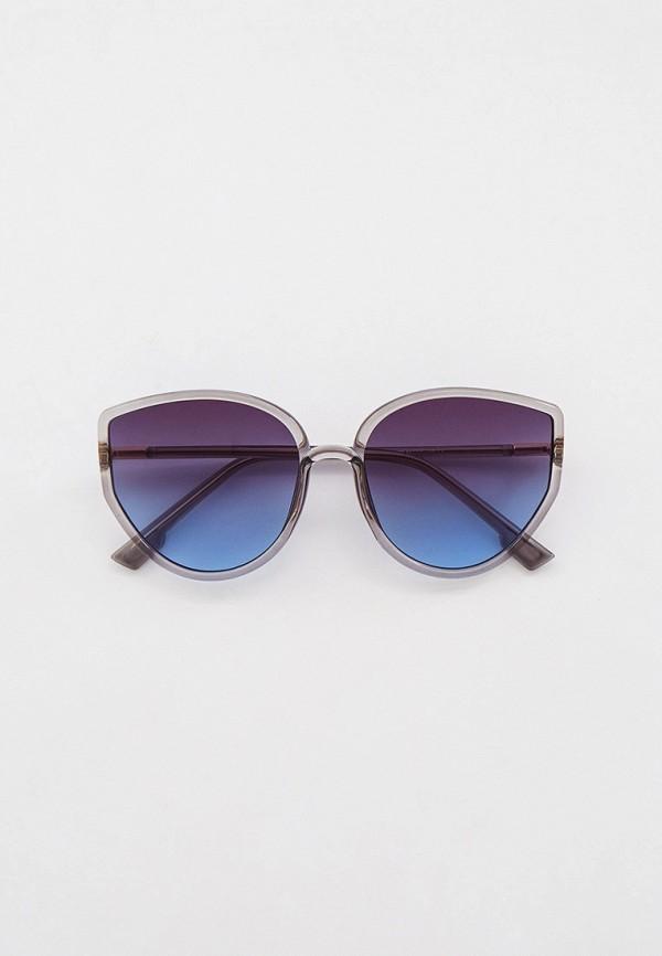женские солнцезащитные очки кошачьи глаза bocciolo, серые