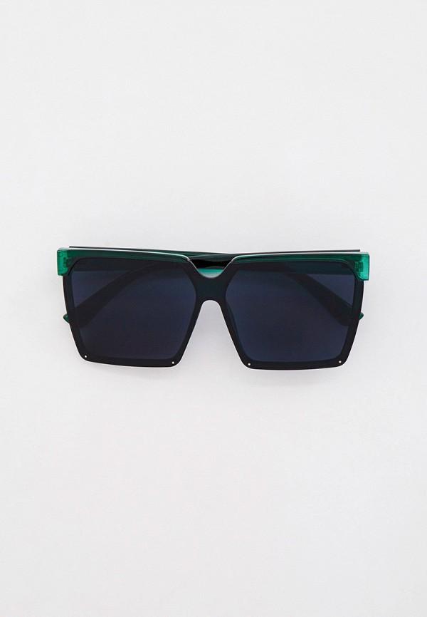 женские квадратные солнцезащитные очки bocciolo, зеленые