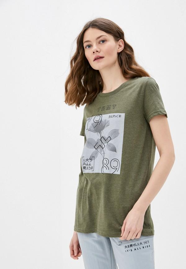 женская спортивные футболка termit, хаки
