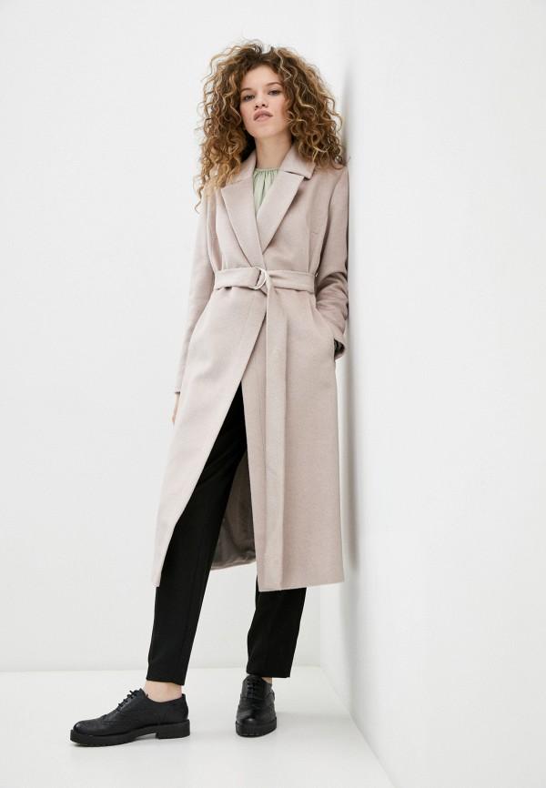 женское пальто smith's brand, бежевое