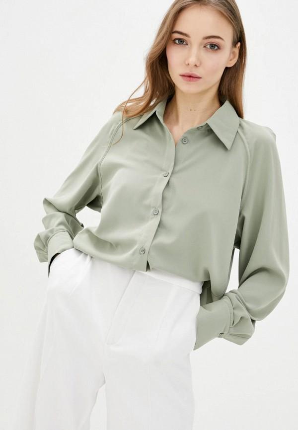 женская рубашка с длинным рукавом katarina ivanenko, зеленая