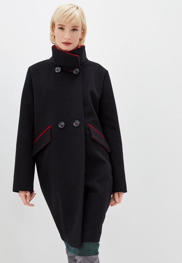 женское двубортные пальто azell'ricca, черное