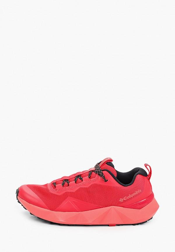 женские низкие кроссовки columbia, красные