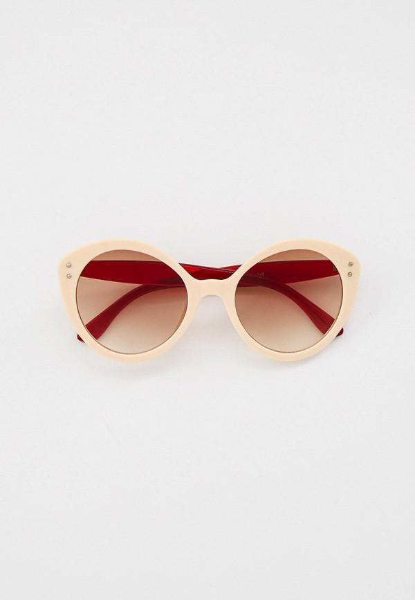 женские солнцезащитные очки кошачьи глаза bocciolo, бежевые