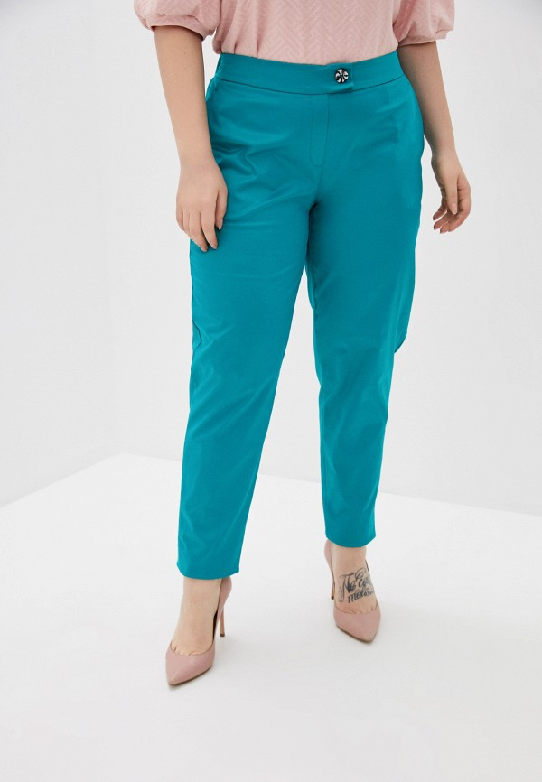 женские зауженные брюки olsi, бирюзовые