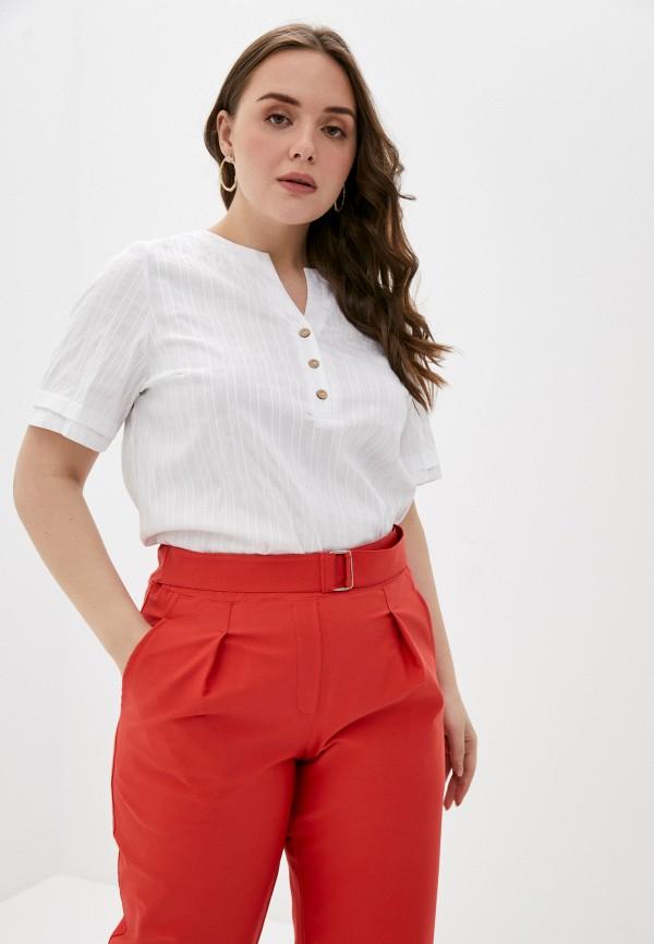 женская блузка с коротким рукавом olsi, белая