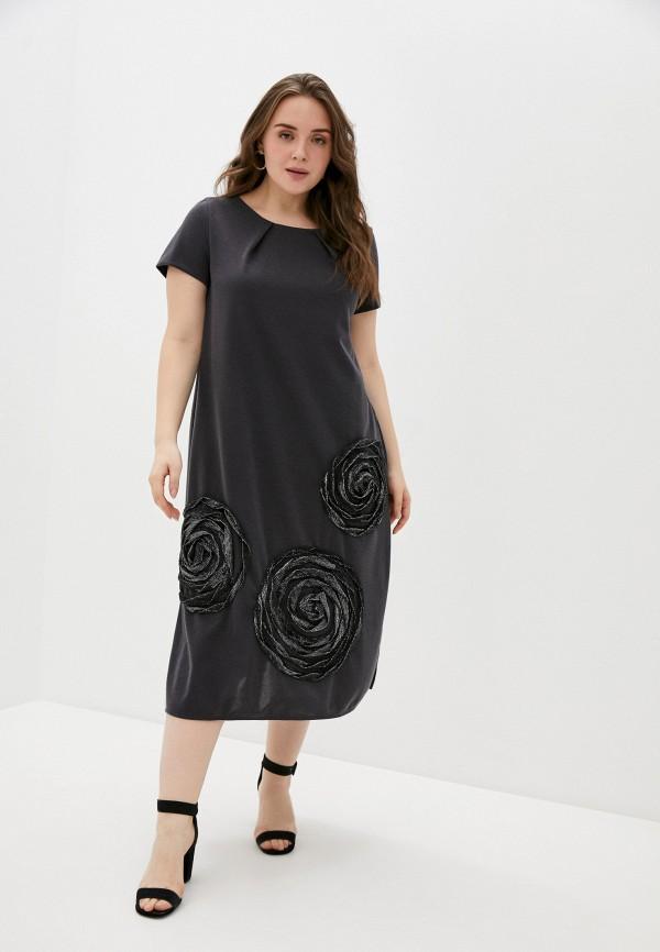 женское повседневные платье olsi, серое