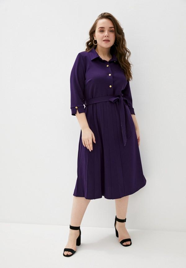 женское платье-рубашки olsi, фиолетовое
