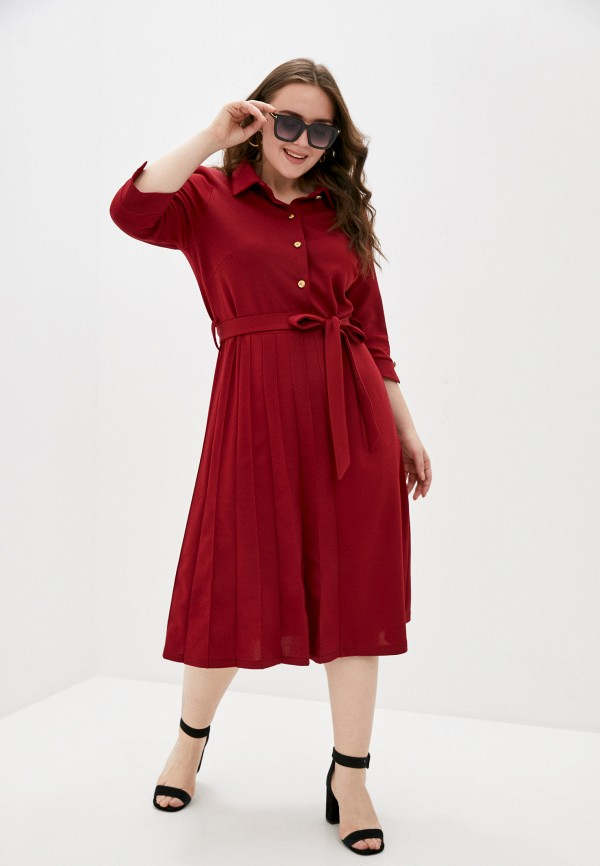 женское платье-рубашки olsi, бордовое