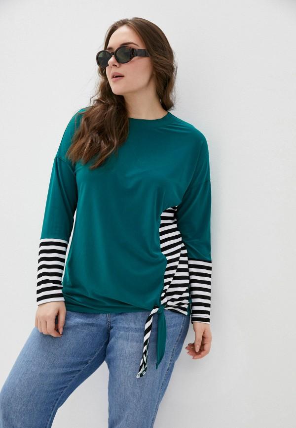 женская блузка с длинным рукавом olsi, зеленая