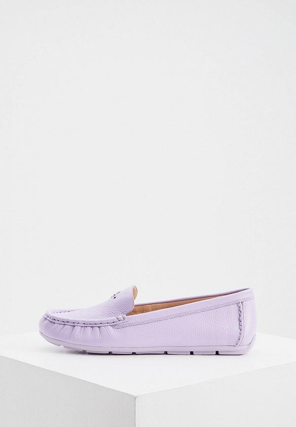женские мокасины coach, фиолетовые