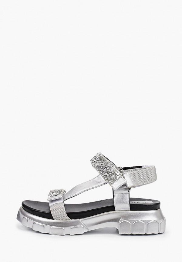 женские сандалии kellis, серебряные