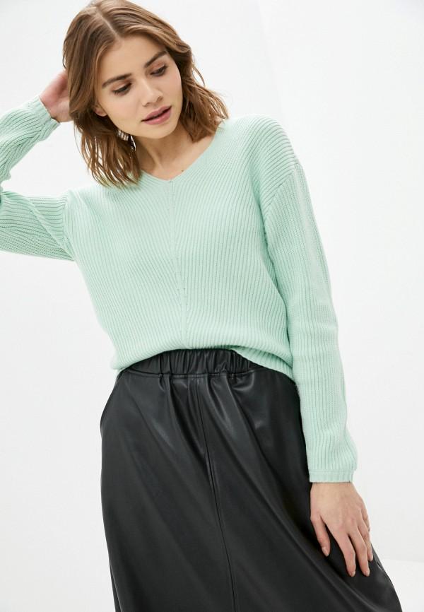 женский пуловер baon, зеленый