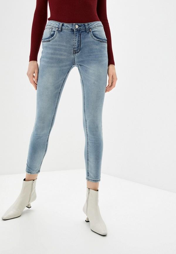 женские джинсы скинни baon, голубые