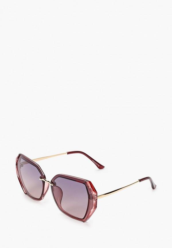 женские квадратные солнцезащитные очки mascotte, фиолетовые
