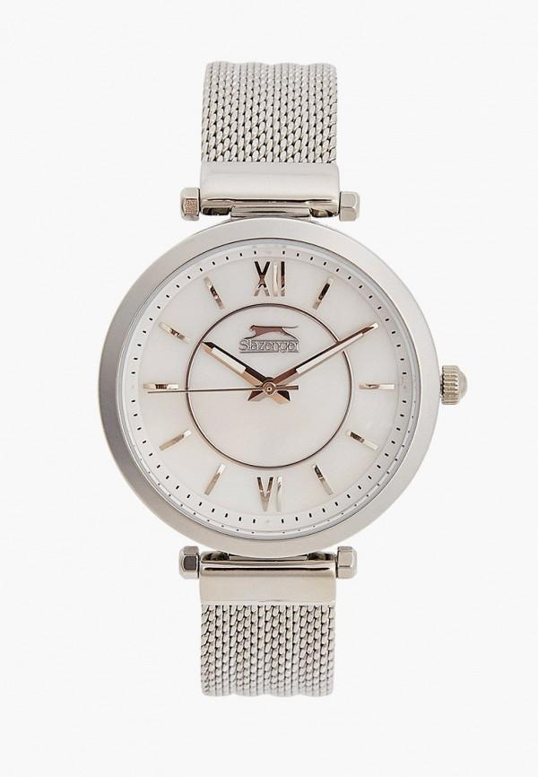 женские часы slazenger, серебряные