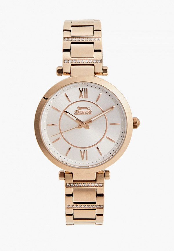 женские часы slazenger, золотые