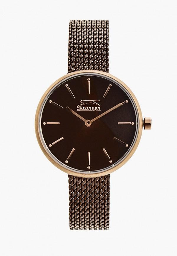 женские часы slazenger, коричневые