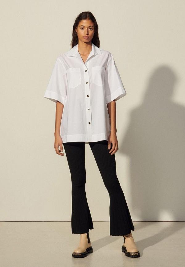 женская рубашка sandro, белая