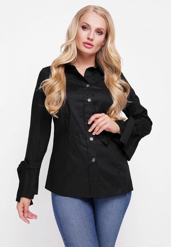 женская рубашка с длинным рукавом vlavi, черная