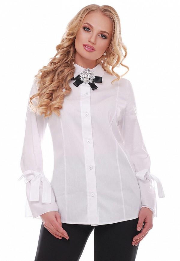 женская рубашка с длинным рукавом vlavi, белая