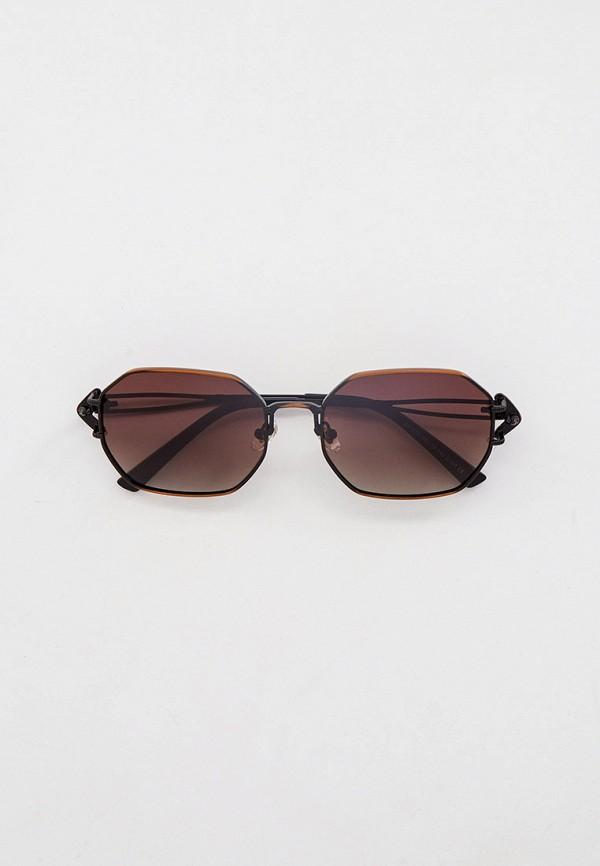 женские квадратные солнцезащитные очки kaizi, коричневые