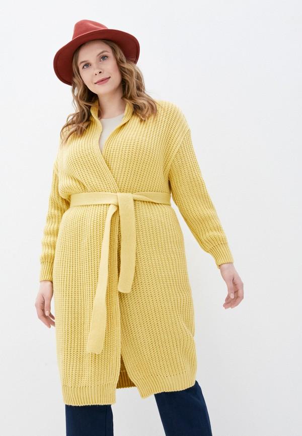 женский кардиган milanika, желтый