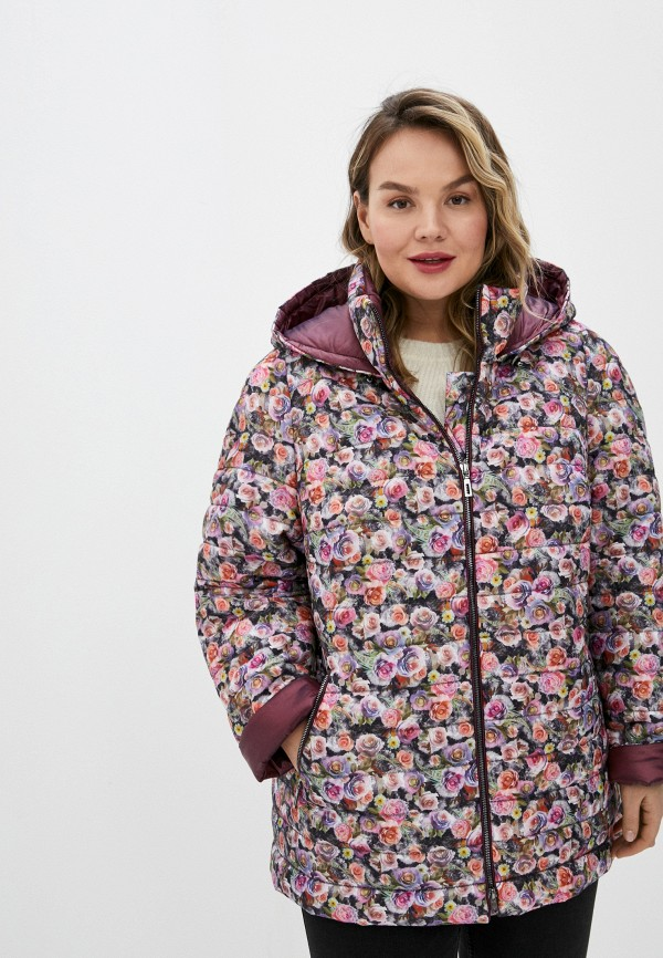 женская утепленные куртка trevery, разноцветная