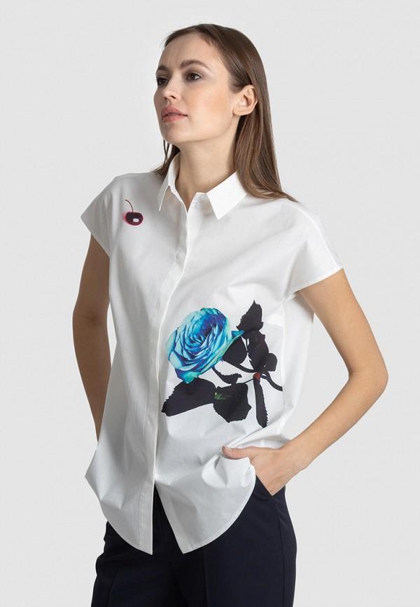 женская рубашка с коротким рукавом энсо, белая