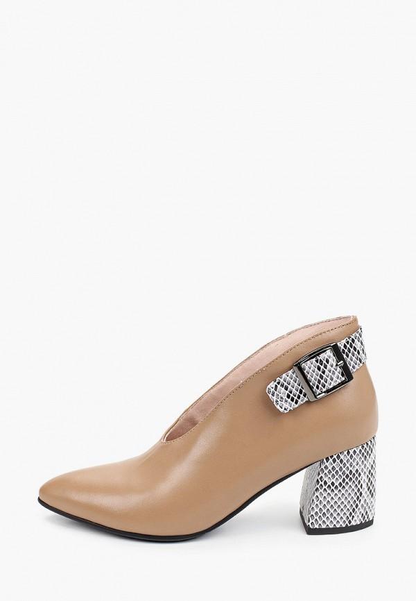 женские туфли с закрытым носом stivalli, коричневые