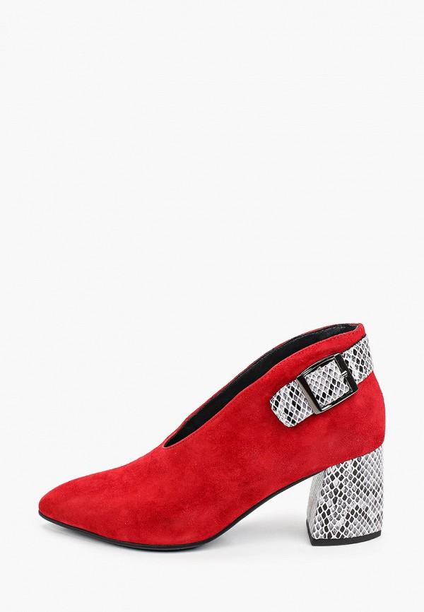 женские туфли с закрытым носом stivalli, красные