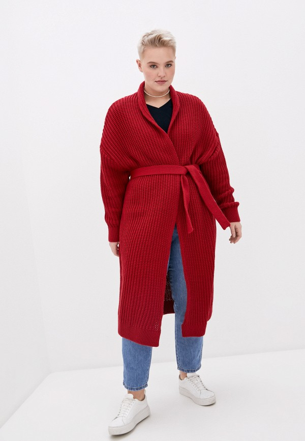 женский кардиган milanika, красный