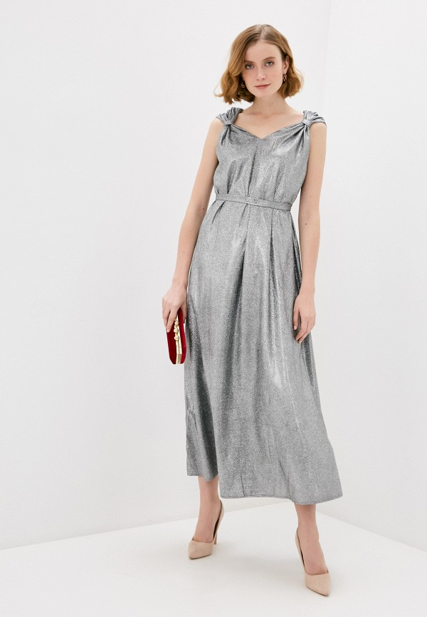 женское вечерние платье naturel, серебряное