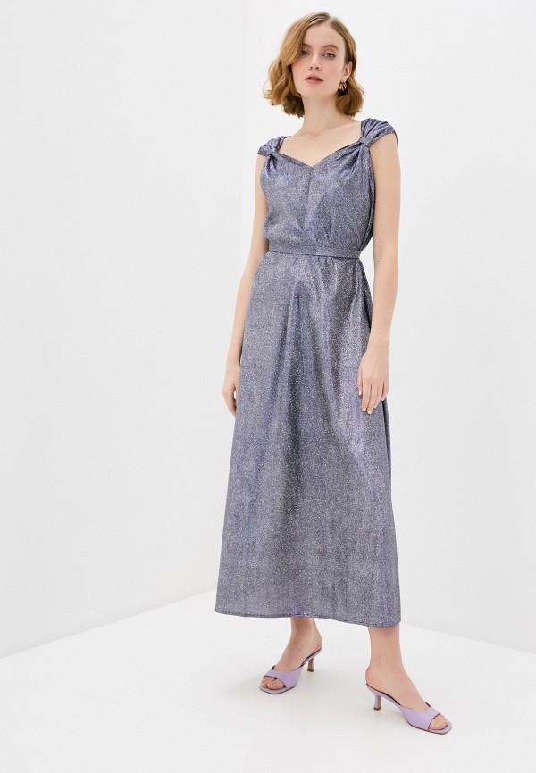 женское платье naturel, серебряное