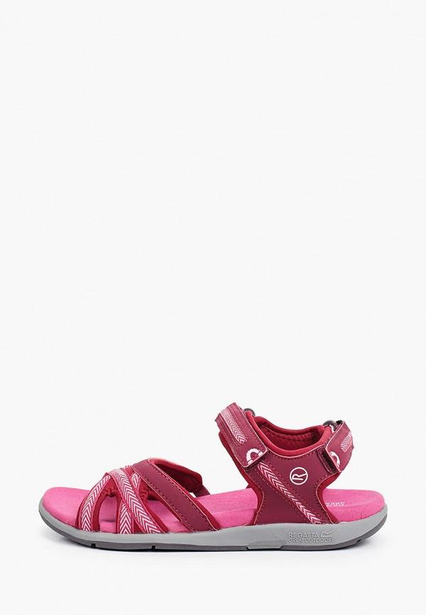 женские сандалии regatta, бордовые