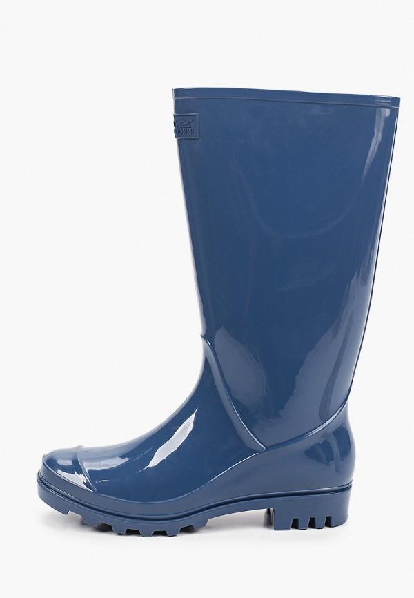 женские резиновые сапоги regatta, синие