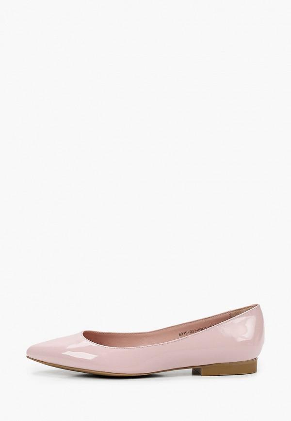 женские балетки giotto, розовые