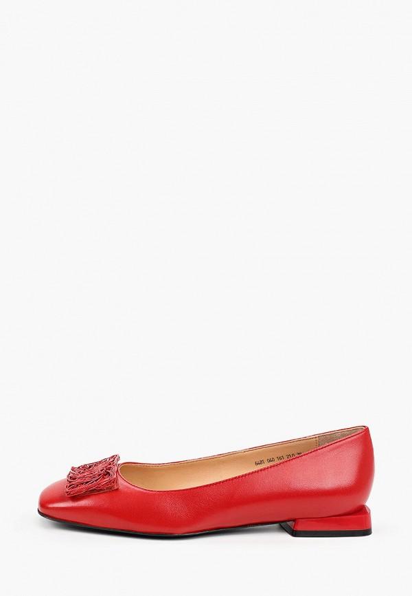 женские туфли с закрытым носом giotto, красные