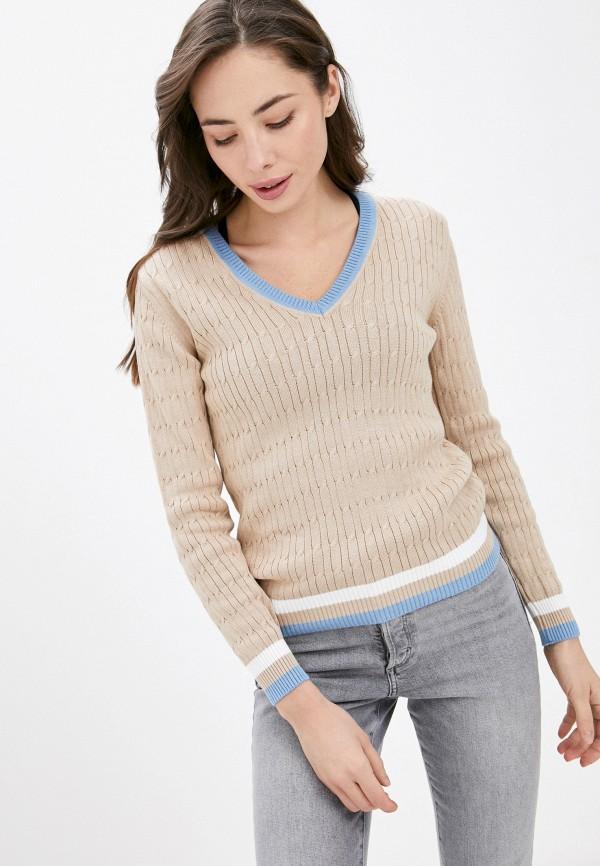 женский пуловер la biali, бежевый