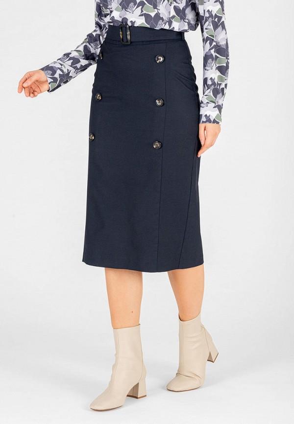женская прямые юбка eliseeva olesya, синяя