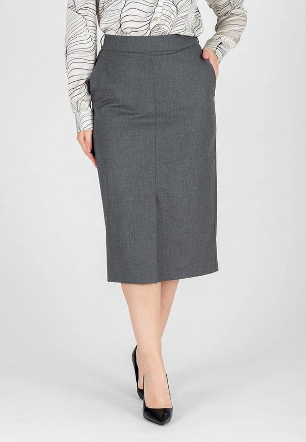 женская прямые юбка eliseeva olesya, серая
