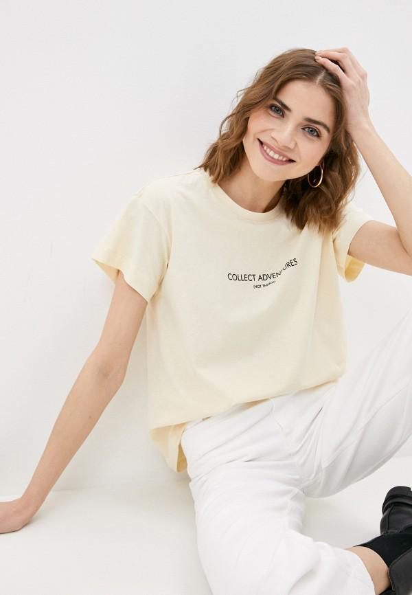 женская футболка vittoria vicci, бежевая