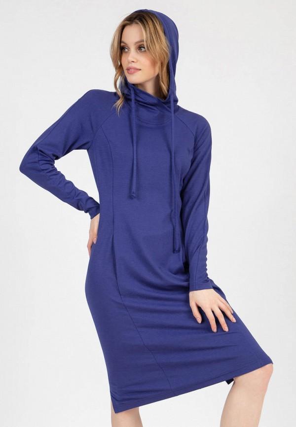 женское платье-толстовки grey cat, синее