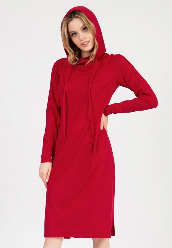 женское платье-толстовки grey cat, красное