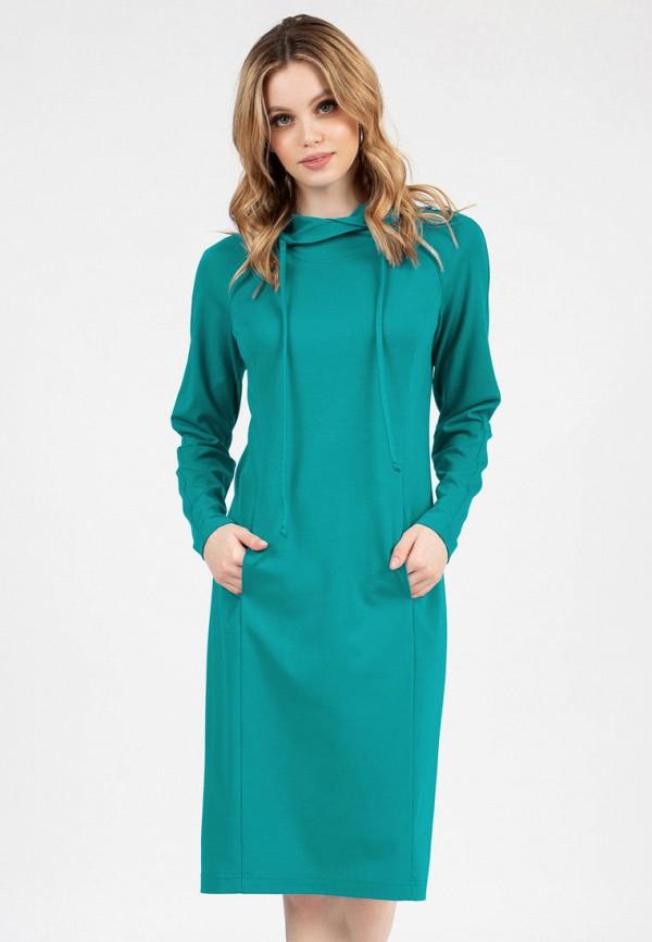 женское платье-толстовки grey cat, бирюзовое