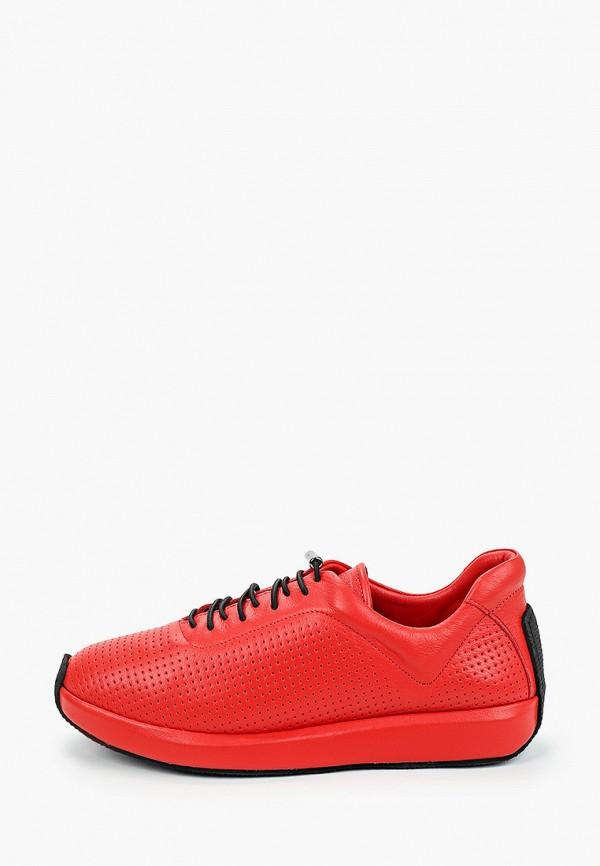 женские низкие кроссовки thomas munz, красные