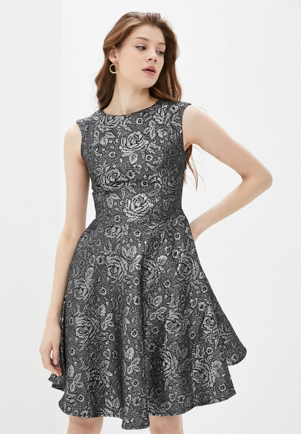 женское повседневные платье naturel, серебряное